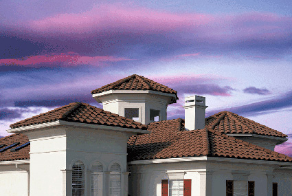 Monier tile roofing
